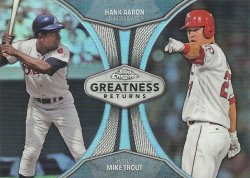 2019 Topps Chrome Greatness Returns Mike Trout/Hank Aaron