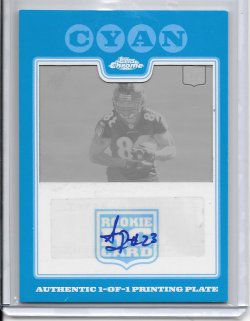 2008 Topps Chrome Cyan Printing Plate Autograph - Allen Patrick