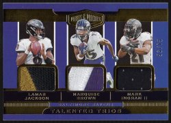 2019 Panini Plates & Patches Talented Trios Patches Lamar Jackson