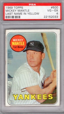 1969 Topps Topps Mickey Mantle (Yellow)
