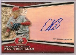 2012 Bowman Platinum Prospects Autograph David Buchanan