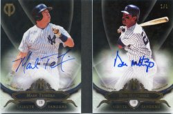 2016 Topps Tribute Mark Teixeira Don Mattingly Tribute Tandem Autographs Black