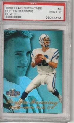 1998 Fleer Flair Showcase Peyton Manning
