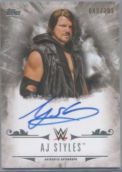 2016 Topps WWE- Undisputed AJ Styles