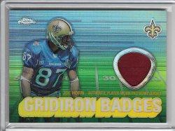 2003 Topps Chrome Gridiron Badges Jersey - Joe Horn