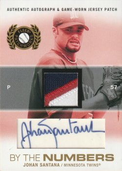 05 Fleer Patchworks By the Numbers Patch Autographs #ed 2 of 25