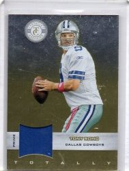 2011 Panini Totally Certified Tony Romo Totally Gold Materials Prime