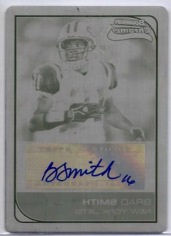 2006 Bowman Chrome Black Printing Plate Auto Brad Smith