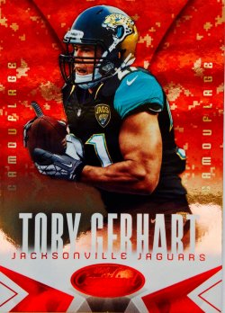 2014 Panini Certified Hot Box Camouflage   Toby Gerhart