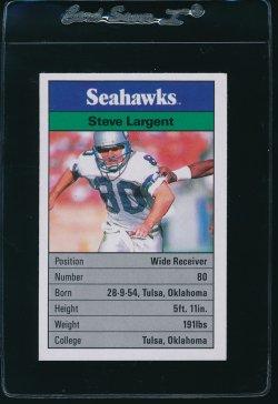 1988  Ace Fact Pack Steve Largent