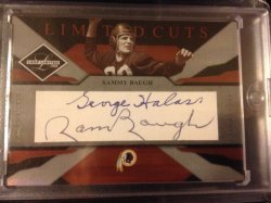 Leaf Limited Sammy Baugh/ George Halas