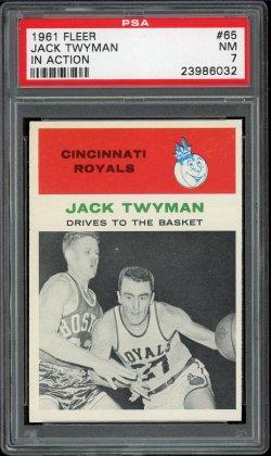 1961 Fleer In Action Jack Twyman