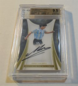 2017 Panini Immaculate Collection Diego Maradona Historical Significance auto
