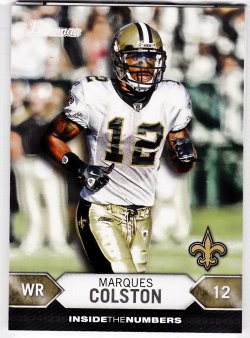 2012 Bowman Inside The Numbers Marques Colston